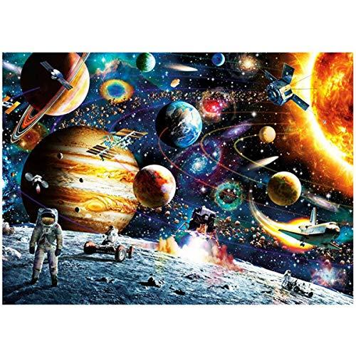 Gojiny Rompecabezas 1000 Piezas de Viajero Espacial Rompecabezas de Rompecabezas Planetas en El Espacio Rompecabezas de Descompresión Regalo de Juguete para Adultos Niños