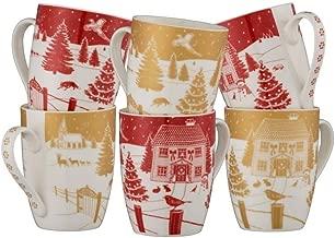Aynsley Christmas In The Country Mug Set