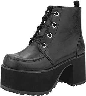 A8663L Womens Platforms, Distressed Ankle Nosebleed Boot