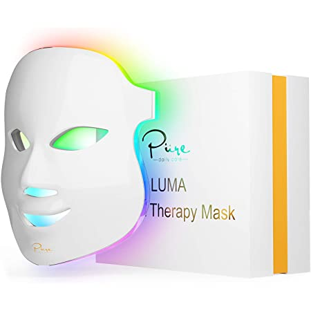 Luma LED Skin Therapy Mask - Home Skin Rejuvenation & Anti-Aging Light Therapy - 7 Color LED - Facial Skin Care - Skin Tightening - Wrinkles & Fine Lines - Boost Collagen - Inflammation Fighter