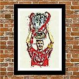 Liverpool FC Steven Gerrard Kunstdruck, gerahmt