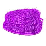 SinLoon Feet Brush Cleaner Foot Massager Foot Scrubber Shower Mat with Non-Slip Suction Cups and Soft Firm Bristles Exfoliation Improves Foot Circulation (Purple Small)