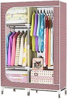 Tissu Garde-Robe, de tuyaux en Acier de Grande capacité Portable Tissu Armoire Chambre Placard de Rangement Organisateur A...