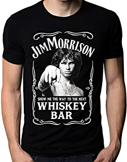 Jim Morrison Show Me The Way to Next Whiskey Bar Doors Logo Men's T-Shirt