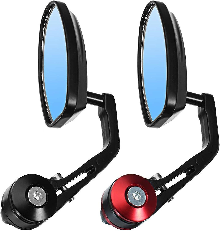 Fincos Motorcycle Mirrors Rear View Motor Handlebar end Mirror Universal 22mm Motorbike Handlebar Rear View Mirror