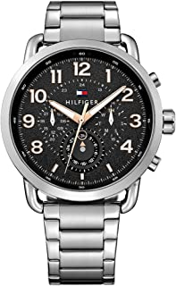 Tommy Hilfiger Men's Black Stainless Steel Casual Watch - 1791422