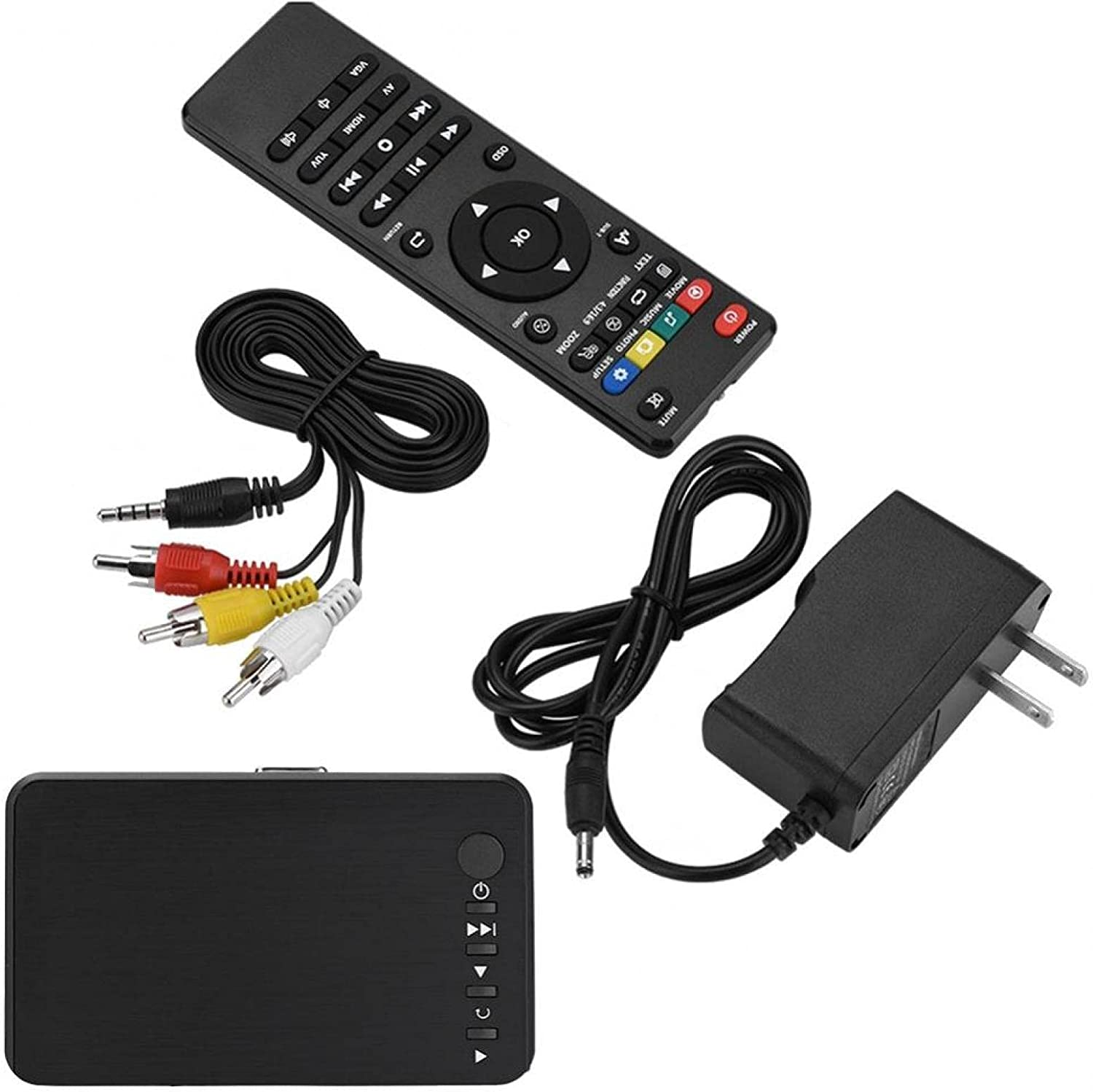 Mxzzand HDMI Video Multimedia Player for Home Travel Office(U.S. regulations, Transl)