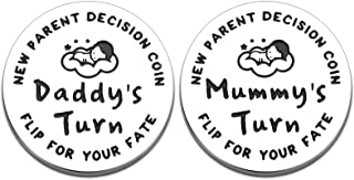New Parents Gift for New Mom Dad Funny Decision Coin for First Time Mommy Daddy to Be Expecting Mother New Baby Birthday P...