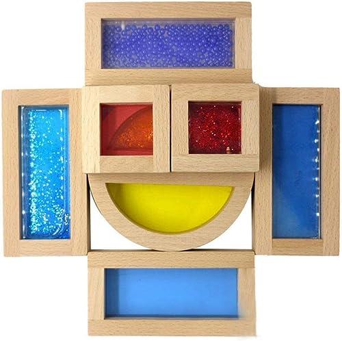 Ich werde jetzt   ergreifen Intellektuelles Spielzeug-Kinder-frühes Bildungs-kreatives Lernen Puzzlespiel-Regenbogen-Bausteine