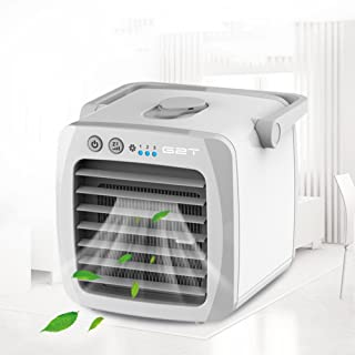 COOLER Espacio Personal Ventilador refrigerador Pequeño Climatizador Portátil Acondicionador de Aire Portátil Mini Pequeño Aire Acondicionado Refrigerador USB -A 13x13x13cm(5x5x5inch)