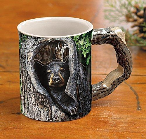 Wild Wings Cubby Hole - Taza de café, diseño de oso negro