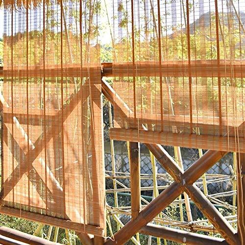 Persianas enrollables de bambú al Aire Libre Persianas Interiores/Exteriores, Patio Exterior Gazebo Porche Carport Persianas Protectoras solares (Tamaño: 145 × 160 cm)