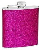 Top Shelf Flasks Premium Flask with Sparkly Glitter, Very Pretty, 6 oz, Purple