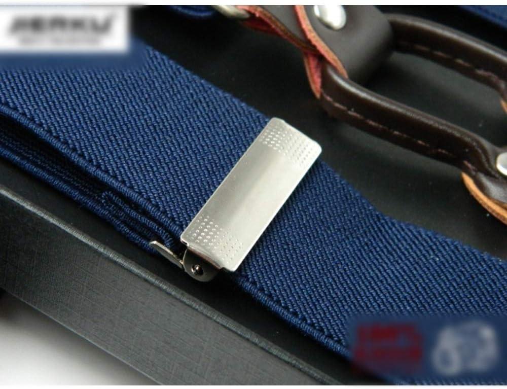 Canvas Belt Men's 4 Clips Monochrome Braces 3.5CM Adult Suspenders with Straps, (Color : Braces)