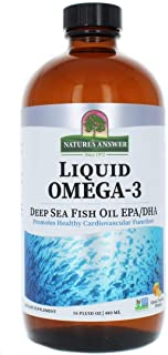 Natures Answer Liquid Omega-3 Fish Oil - 16 fl oz (Pack of 4)
