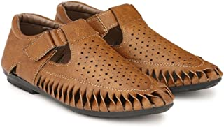 SHOE DAY Men's Artificial Leather Fisherman Sandals