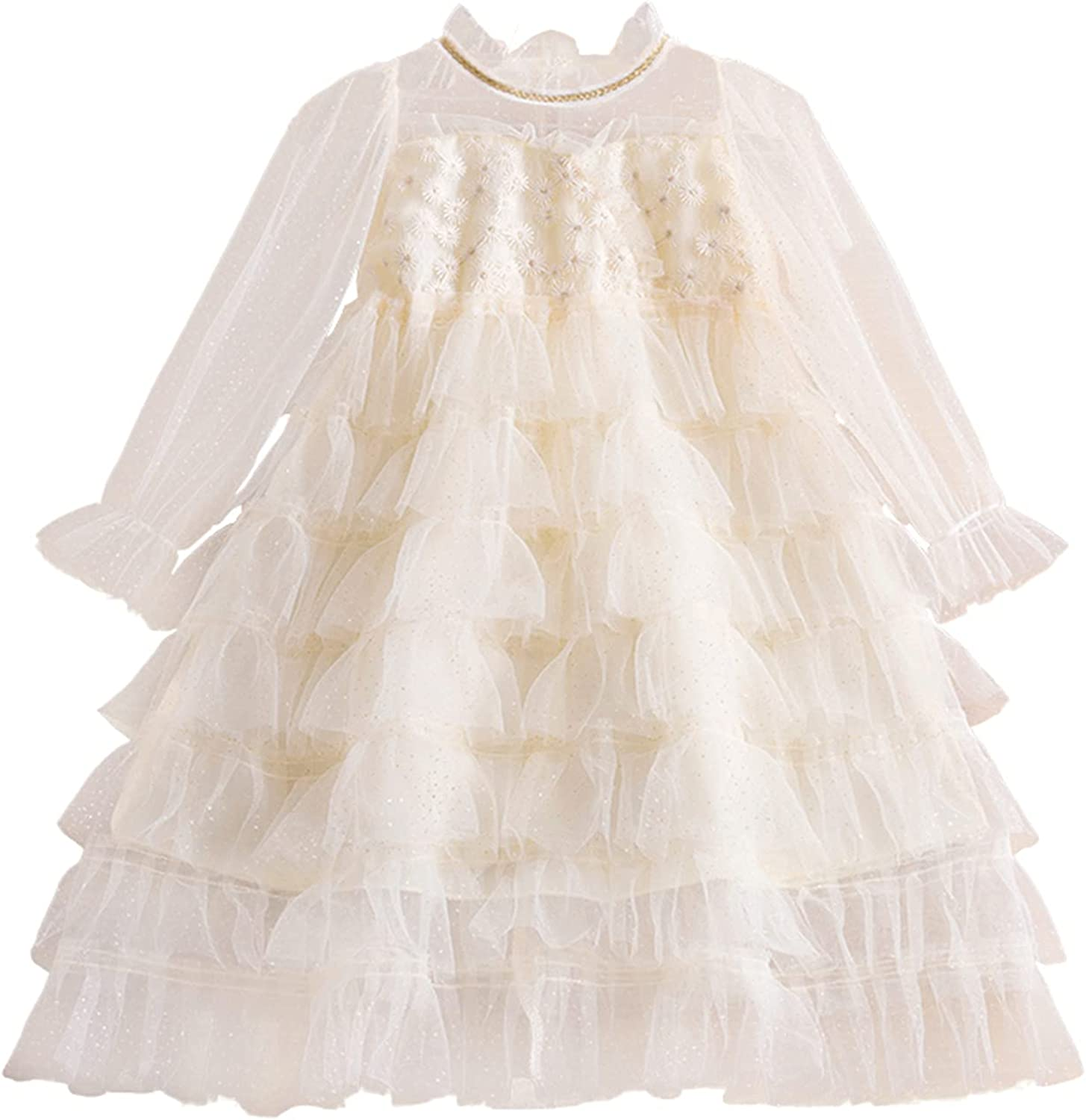 Excellent TTYAOVO Little Girls Long Our shop OFFers the best service Sleeves Casual with Tut Dress Birthday