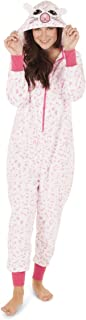 Totally Pink Women's Plush Warm Cozy Character Adult Onesies for Women One Piece Novelty Pajamas