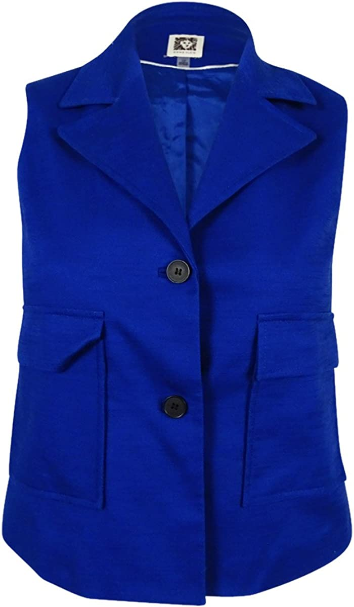 Anne Klein Women's 2 Pocket Vest