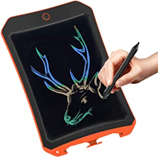 Spring&Color LCD electronic board toy for 4-9 year old boys, teenage boys and girls birthday present, Christmas gift, 8.5 inch handwritten paper drawing board, suitable for home and outdoor (orange C)
