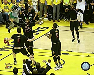 NBA Cleveland Cavaliers 2016 Finals Champions Team Celebration Photo (Size: 8