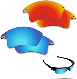 Anti-Saltwater Polarized Replacement Lenses for Oakley Fast Jacket XL Sunglasses 2 Pairs Packed