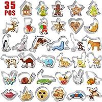35 Diverse Forme di Animali: pentagramma, campana, cammello, farfalla, elefante, Babbo Natale, casa, lumaca, delfino, coniglio rari, leoni marini, cervi, gatto, foca, coniglio, mucca, orangutan, pesce, fiocco di neve, cane, aeroplano, Natale calza, P...