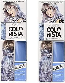 L'Oréal Paris Colorista Semi-Permanent Hair Color for Light Bleached or Blondes, Blue(pack of 2)