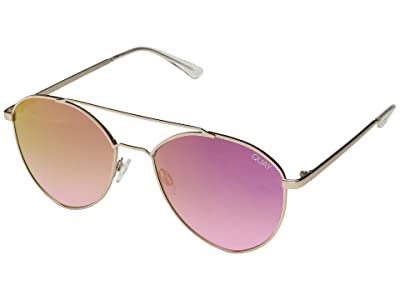 QUAY AUSTRALIA Dragonfly (Matte Gold/Pink) Fashion Sunglasses