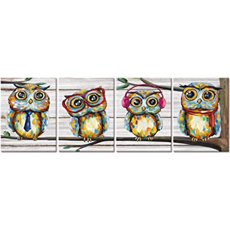 Large Owl Print Original Bird Print On Canvas Modern Wall Art Owl Artwork Blue Print Gift For Her Nature Photo Winter Print Home Decor