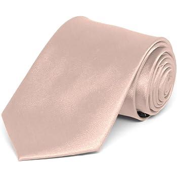 TieMart Boys' Blush Pink Solid Color Necktie