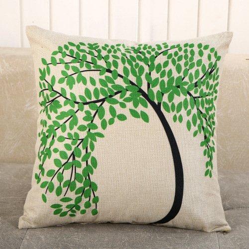 Juego de 6 fundas de almohada de lino de 65 x 65 cm con cremallera decorativa fundas de almohada