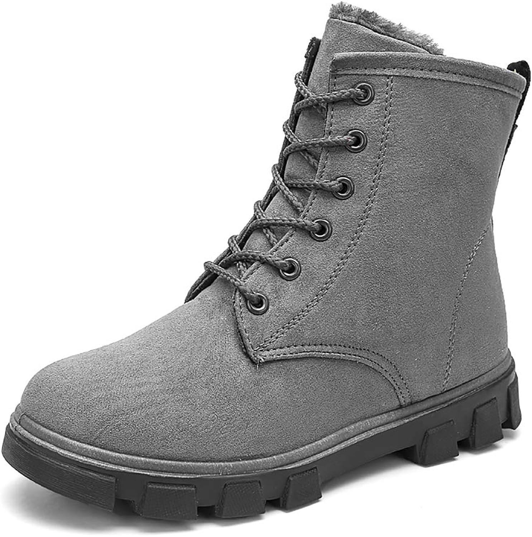 Warm and Velvet Martin Boots, Suede Leather Women's shoes, Women's Winter Plus Cotton Snow Boots Cotton shoes,41