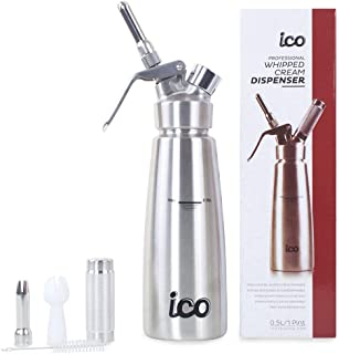ICO Brand 1 Pint All Stainless Steel Professional Whipped Cream Dispenser