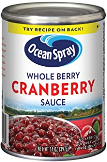 Ocean Spray Cranberry Sauce, Whole Berry, 14Ounce Can (Pack of 24)