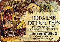 金属の装飾ティンサイン、1885年のコカインの歯痛はロイド製造を低下させる-ガレージオフィスクラブバーの壁のアートカフェの家の絵画の装飾に適したレトロな金属のスズのポスター