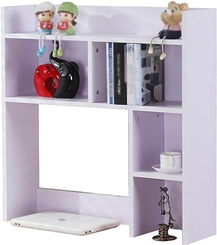 Bücherregal CHUANLAN Tisch Büro Dormitory Desktop Regale Lagerregal (Farbe   Weiß 80  20  80cm)