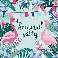 LFEEY 6x6フィート トロピカル ジャングル フラミンゴ 背景 ヤシの木 夏 パーティー バナー 子供 誕生日パーティー 写真 背景 新生児 赤ちゃん 女の子 ポートレート 写真 小道具