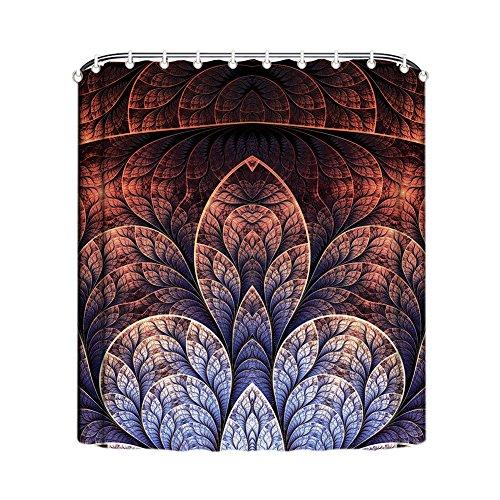 Gd-Designs Rideau de douche créatif Anti Moisissure Salle De Bains Rideau De Bain Rideaux rideau de douche liner avec crochets Polyester décoratif étanche lavable en machine, Polyester, G, 120x180cm