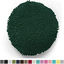 Gorilla Grip Original Shag Chenille Bath Rug Toilet Lid Cover, 19.5 Inchx18.5 Inch Large Size, Machine Washable, Ultra Soft Plush Fabric Covers, Fits Most Size Toilet Lids for Bathroom, Deep Green