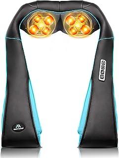 Back Neck Shoulder Massager with Heat - Deep Tissue Kneading Electric Back Massage for Neck, Back, Shoulder, Waist, Foot -...