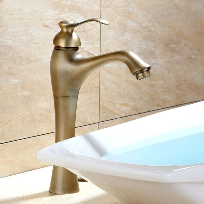 GZF Bathroom Sink Taps Faucet Vintage European Above Counter Basin Kitchen Antique Bathroom Set Art Basin Hot & Cold Antique Washbasin Faucet Mixer Washbasin Faucet