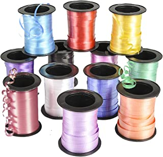 Bedwina Curling Ribbon - (Pack of 12) Assorted Colors Variety, 60 Feet per Roll for Crafts, Bows, Gifts, Wrapping, Balloons, Florists, Showers and More