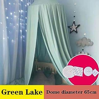 ベッドキャノピー 子供のための ドーム 蚊帳 窓付き、 キッズ 王女 演奏する テント、 部屋の装飾 屋内 アウトドア ゲームで遊んでいる ハウスリーディング/ベビーベッドヌーク,Lake green