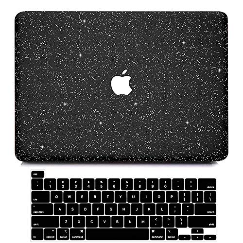 MacBook Pro 13 inch Case 2020 2019 2018 2017 2016 Release A2338 M1 A2251 A2289 A2159 A1989 A1708 A1706, BELKA Glitter Sparkly Smooth PC Hard Case with Keyboard Cover for Pro 13 with Touch Bar & Retina