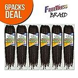 FreeTress Synthetic Hair Crochet Braids Jamaican...