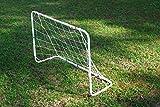 Mini Fußballtor aus Stahl - 120 x 80 cm - weiß pulverbeschichtet - WETTERFEST
