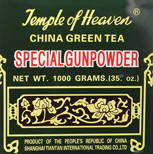 Temple of Heaven China Green Tea Special Gunpowder 1 Kilo Guaranteed Authenticity, 2.2 Pound (Pack of 1)