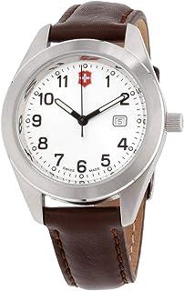 Victorinox Garrison White Dial Leather Strap Ladies Watch 26045CB