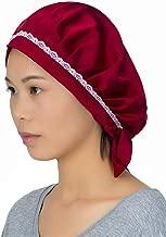 100% Mulberry Silk Night Sleeping Cap Bonnet Hats for Women, Chemo Caps Cancer Headwear Skull Cap,Very Silky & Comfortable